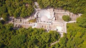 Амфитеатр на археологическом месте Butrint в Албании Стоковая Фотография RF