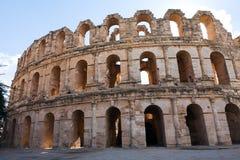 Амфитеатр ориентир ориентира римский в El Jem Стоковое Фото