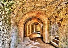 Амфитеатр Помпеи - Италии стоковые изображения