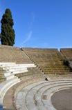 Амфитеатр Помпеи, римского города Стоковая Фотография RF