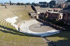 Амфитеатр Помпеи, римского города Стоковое Изображение