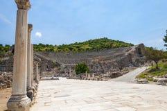 Амфитеатр, древний город Ephesus, Турция Стоковое Изображение