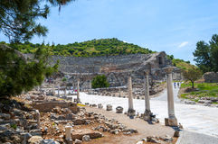 Амфитеатр, древний город Ephesus, Турция Стоковые Изображения RF