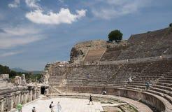 Амфитеатр, древний город Ephesus, Selcuk, Турция Стоковые Фотографии RF