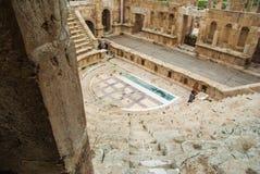 Амфитеатр, Jerash Стоковая Фотография