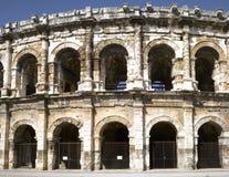 амфитеатр nimes римский Стоковое фото RF