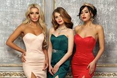 3 дамы в платьях вечера Стоковое Изображение RF