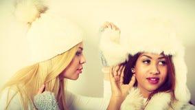 2 дамы с обмундированием зимы Стоковая Фотография RF