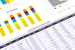 анализ составляет схему финансовохозяйственному Стоковые Фотографии RF