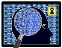 Аналитик и риск для безопасности сети Стоковые Фото
