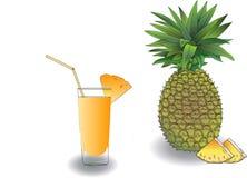 Ананас и свежий сок от ананаса Стоковое Изображение RF