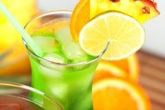 ананас коктеила зеленый тропический Стоковые Фотографии RF
