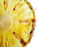 ананас отрезал изолят фото крупного плана на белой предпосылке Стоковые Фотографии RF