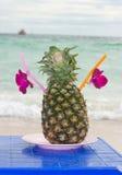 ананас питья коктеила Стоковая Фотография