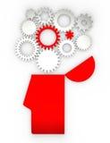 Анатомия мозга идей шестерни человеческого тела Стоковое фото RF