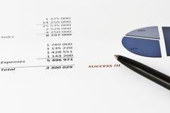 Анализировать коммерческих информаций Стоковое Изображение
