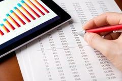 Анализировать финансовохозяйственный рапорт стоковая фотография rf