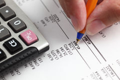 Анализировать финансовый отчет Стоковое Изображение RF
