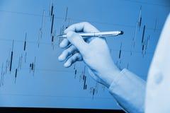 Анализ диаграммы подсвечника Стоковое фото RF