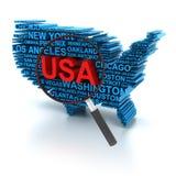 Анализ США иллюстрация вектора