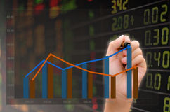 Анализ фондовой биржи Стоковое фото RF