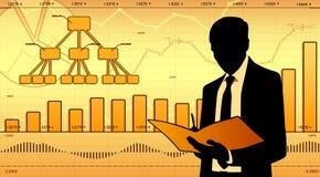 Аналитик деловой активности иллюстрация вектора