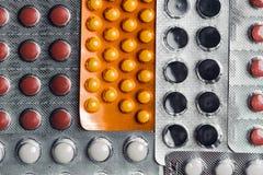 Анальгетики, таблетки, родовые пилюльки Стоковые Фотографии RF
