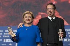 Ана Brun Парагвая и Marcelo Martinessi, серебряный медведь на Berlinale 2018 Стоковое Изображение