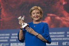 Ана Brun, победитель серебряного медведя для самой лучшей актрисы на Berlinale 2018 стоковое фото rf