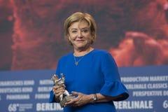 Ана Brun, победитель серебряного медведя для самой лучшей актрисы на Berlinale 2018 стоковое изображение