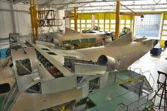 Ангар собрания воздушных судн Стоковое фото RF