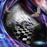Ангелы и Checkered сторона бесплатная иллюстрация