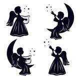 Ангелы рождества иллюстрация штока