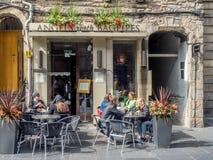 Ангелы с волынками, королевская миля, Эдинбург Шотландия Стоковые Изображения RF