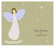 Ангел рождества иллюстрация штока