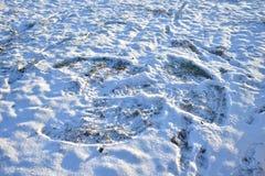 Ангел снега сделанный без много снега стоковые фото