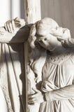Ангел с крестом Стоковое Фото
