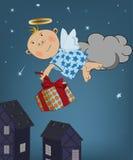 Ангел с подарками Стоковое Изображение RF