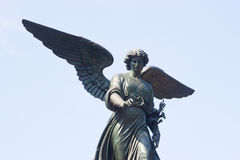 Ангел фонтана Bethesda, Central Park, NY Стоковое Изображение RF