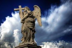 ангел angelo над ponte rome sant стоковое фото rf