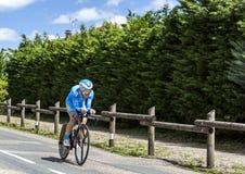 Ангел Madrazo Ruiz - Критерий du Dauphine 2017 велосипедиста стоковые фото