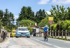 Ангел Madrazo Ruiz - Критерий du Dauphine 2017 велосипедиста стоковые изображения rf