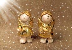 2 ангела в волшебном свете Стоковое Изображение