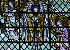 3 ангела в цветном стекле Стоковое Изображение
