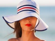 ангела Предпосылка моря стороны, шляпа! Стоковые Изображения