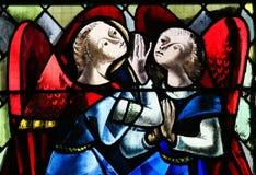 2 ангела - цветное стекло Стоковые Фотографии RF