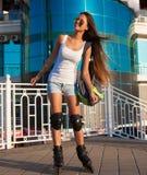 ангела rollerblading город! Стоковая Фотография RF