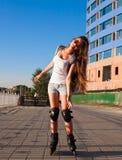 ангела rollerblading город! Стоковая Фотография