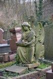 Ангел в кладбище Стоковое фото RF
