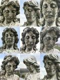 Ангеликовая женская головная каменная сторона статуи стоковая фотография rf